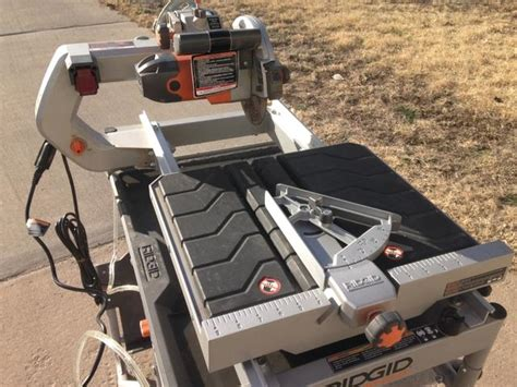 ridgid 7 quot site tile saw with laser model r4007