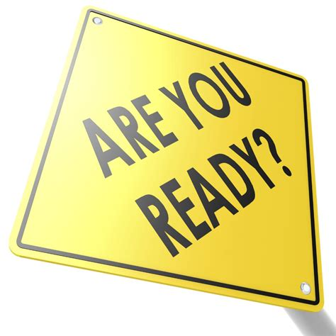 Road Sign With Are You Ready  Peter Watson