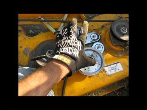 cub cadet mower belt coming deck fix lt 1045 part 1