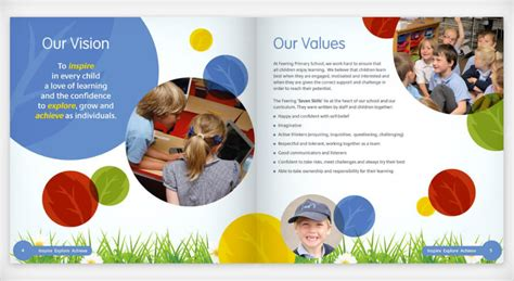 School prospectus and website design provides insight for parents