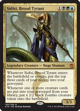 sidisi brood tyrant new card discussion the rumor mill magic fundamentals mtg salvation