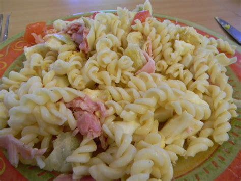 salade de p 226 te au jambon recettes by chouchou