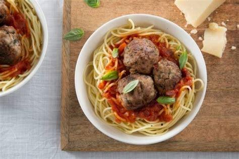 recette de spaghetti al dente boulettes de viande 224 l italienne rapide