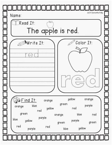 67 Best Images About Teaching Colors And Color Words On Pinterest