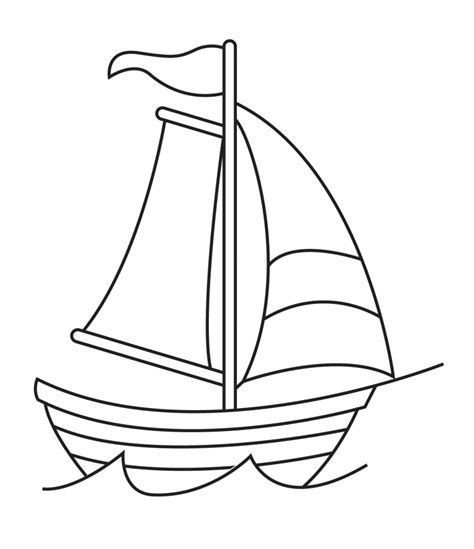 How To Draw A Cartoon Boat Step By Step by Simple Drawing Of A Ship Simple Drawing Of A Ship