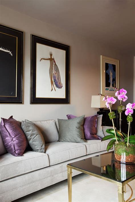 grey and purple living room paint how to use purple in stunning looking living rooms