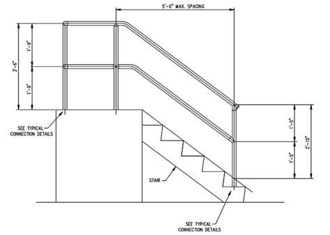 Osha Handrail, Guardrail Specifications, Cad Drawing