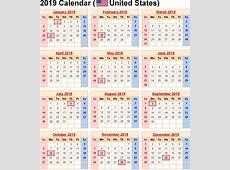 Year Calendar 2019 USA – Free Printable 2018 Calendar