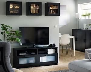 Tv Bank Schwarz : brimnes wohnzimmerserie ikea ~ Markanthonyermac.com Haus und Dekorationen