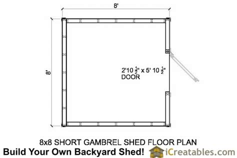 tifany free 8x8 gambrel shed plans