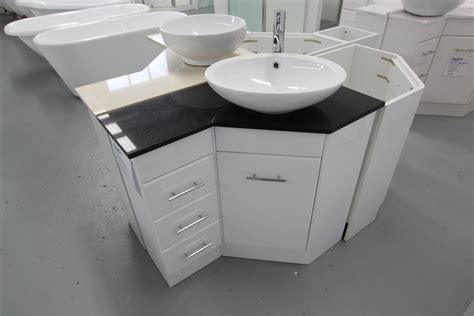 interior corner vanity units with basin downstairs