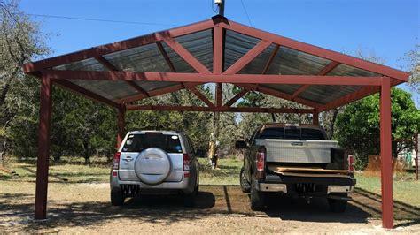 A Metal Carport Build Garagespot