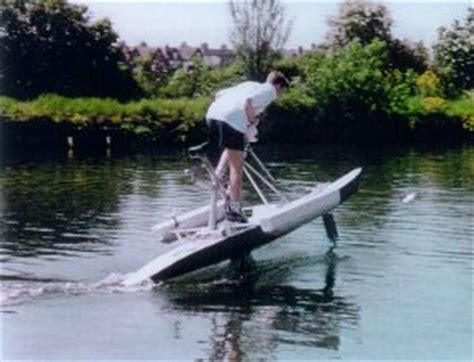 Pedal Catamaran Hydrofoil by Projects On Pedal Powered Boats