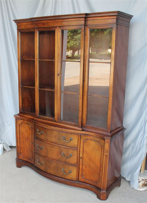 bargain s antiques 187 archive mahogany breakfront china cabinet bargain s antiques