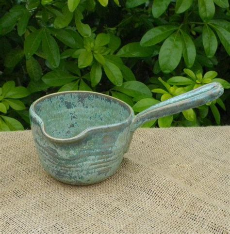 Pottery Gravy Boat Hand Thrown by Dip Bowl Pate Serving Dish Hand Thrown Stoneware Pottery