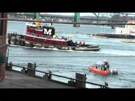 Tug Boat Accidents Youtube by Classic Video Moran Tug Saves Pinned Tugboat From Getting