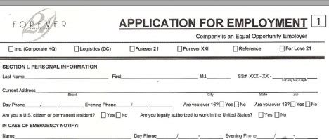 7 Best Images Of Printable Applications For Jobs Hiring