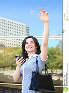 Business Woman Waving Goodbye Royalty Free Stock ...
