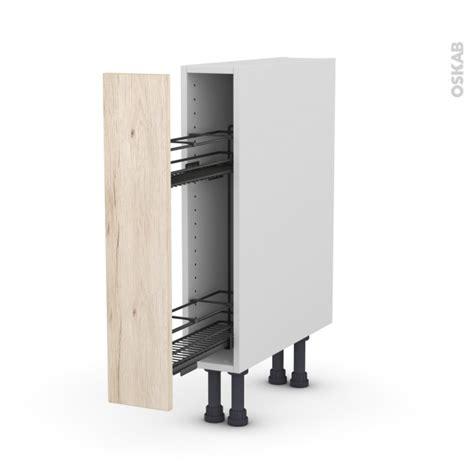 meuble de cuisine range 233 pice epoxy ikoro ch 234 ne clair 1 porte l15 x h70 x p58 cm oskab