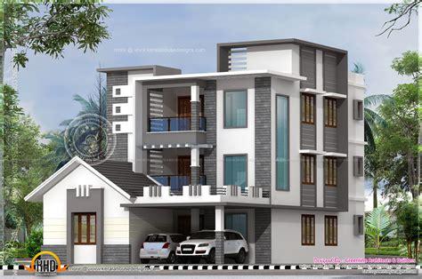 8 Home Designs : Three Storied Modern Luxury House