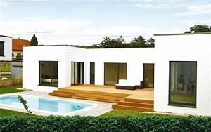 Haus Bungalow Modern : das massiv fertighaus mit flachdach von malli haus mit stockwerk oder als bungalow bungalow ~ Markanthonyermac.com Haus und Dekorationen