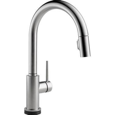 Delta Touch Kitchen Faucet Home Depot by Delta Trinsic Single Handle Pull Sprayer Kitchen