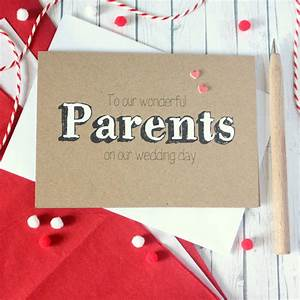 'to our wonderful parents' wedding day card by little ...