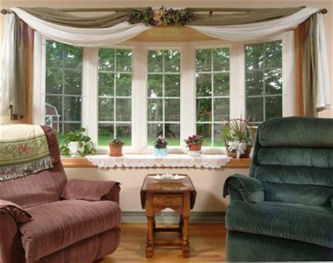 Bow Window Treatments 2017  Grasscloth Wallpaper