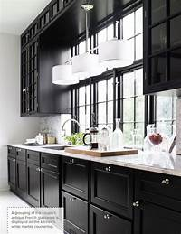black and white kitchen One Color Fits Most: Black Kitchen Cabinets
