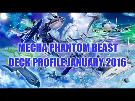 best mecha phantom beast deck profile january 2016