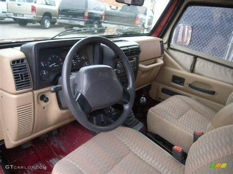 1999 jeep wrangler interior 1999 chili pepper pearlcoat jeep wrangler se 4x4