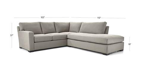axis ii 2 right bumper sectional sofa douglas