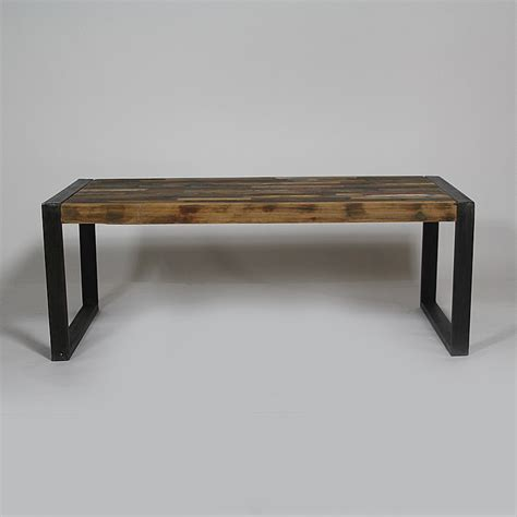 table basse industrielle bois color 233 et m 233 tal made in meubles