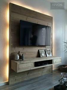 Indirekte Beleuchtung Fernseher : 17 ideen zu fernsehwand auf pinterest tv fernseher tv wand im raum und tv wand ~ Markanthonyermac.com Haus und Dekorationen