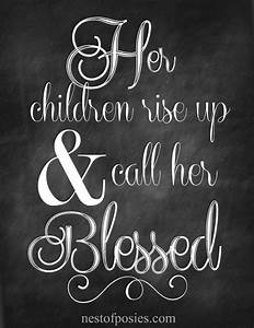 Proverbs 31 Chalkboard Printable for Mother's Day - Nest ...