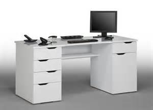 bureau informatique design laqu 233 blanc claudelle bureau bureau