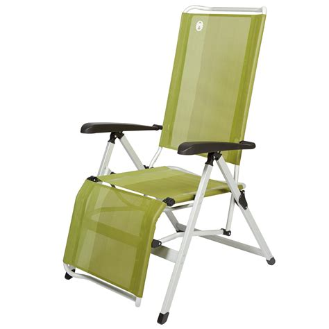 coleman recliner chair with footrest green make c uk