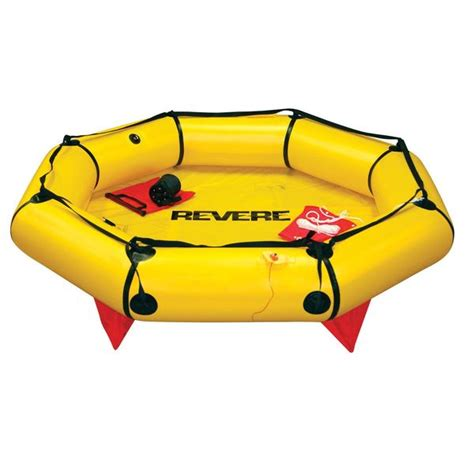 Small Boat Life Raft by Revere Supply Coastal Compact 2 Person Life Raft Valise