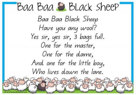 Row Row Row Your Boat Chinese Lyrics by Baa Baa Black Sheep Nursery Rhyme