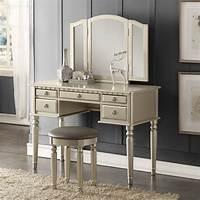 make up vanity Tri Folding Mirror Vanity Set Makeup Table Dresser w ...