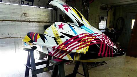 Ski Boat Paint Jobs by Gopro Timelapse Custom Jetski Paint Job Youtube
