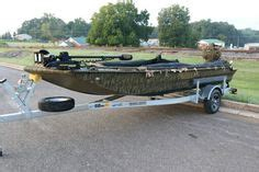 Duck Hunting Boat Death by Excel Boat With 55hp Mud Buddy Black Death Is Ready For