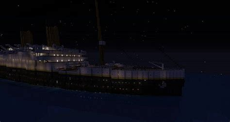titanic sinking at 0 15 am minecraft project
