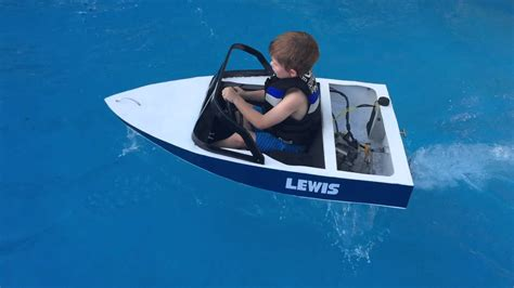 Mini Jet Boat Videos by Mini Ski Boat Build Petrol Powered Youtube