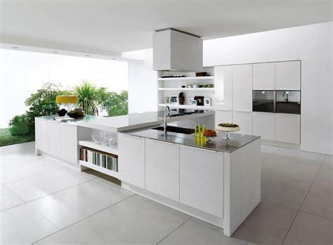 White Ceramic Tile Flooring For Most Popular Kitchen