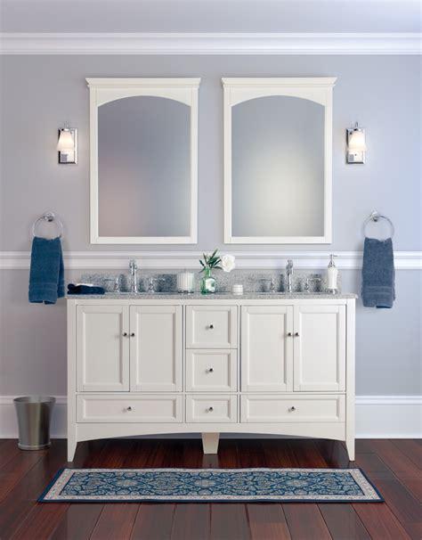 Bahtroom Delicate Antique Double Sink Bathroom Vanities
