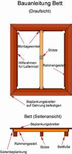 Bett Selber Bauen Holz : bauanleitung bett bauplan bettgestell aus holz ~ Markanthonyermac.com Haus und Dekorationen