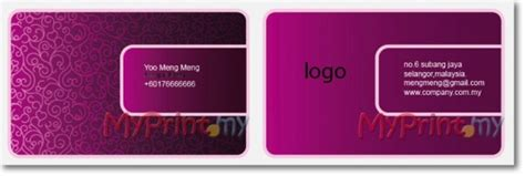 Avery Template 28371 Business Cards