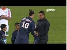 Luiz de Lima RonaldoEl Fenomeno starts the match Paris