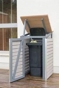 Mülleimer Selber Bauen : m lltonnenbox selber bauen endzustand mit offenem deckel und t r m lltonnenbox pinterest ~ Markanthonyermac.com Haus und Dekorationen